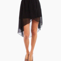 Sheer Tulip Skirt in Black