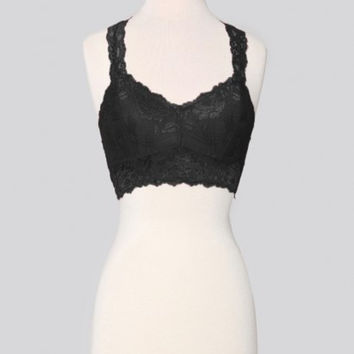 Wishlist-Lace Racerback Bralette-Black