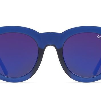 Quay - If Only Blue Sunglasses / Blue Mirror Lenses