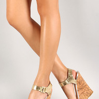 Shimmering Metallic Wedges