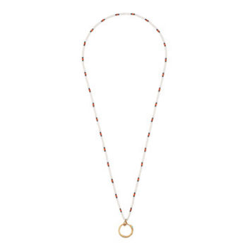 Gucci Beaded necklace with Ouroboros pendant