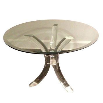 Pre-owned Charles Hollis Jones Lucite Dining Table