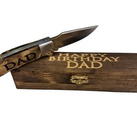 Dad's Engraved Knife & Gift Box | Dad Birthday Present, Gift Knife