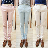 Slim Fit Pastel Pants
