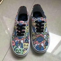 VANS graffiti canvas shoes flat shoes H-CSXY