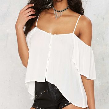 Sleeve It at That Cold Shoulder Top