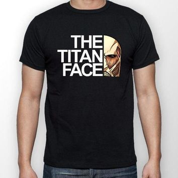 Cool Attack on Titan 2018 New Mens The  Face  Anime Unisex Tshirt T-Shirt Tee ALL SIZES  Tee  Shirts AT_90_11