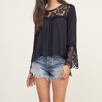 Cutwork Peasant Blouse