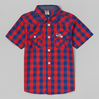 Red & Blue Plaid Button-Up - Toddler & Boys | zulily