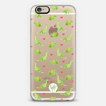 Dinosaur Love - Transparent Case iPhone 6 case by wonder forest | Casetify
