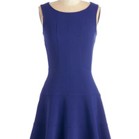 Closet Mid-length Sleeveless A-line Prized Panelist Dress in Cobalt