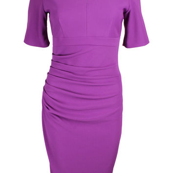Nadia Violet Purple Fitted Dress