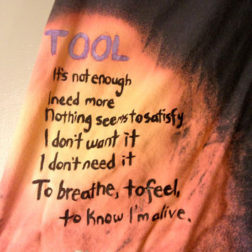 TOOL Stinkfist Hand Painted Tee by CosmicTees on Etsy