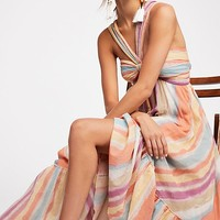 Tropical Sunrise Maxi Dress