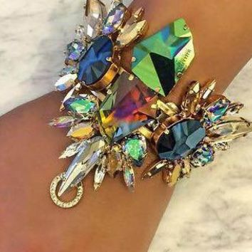Exaggerated diamond bracelet fashion pop punk bracelet