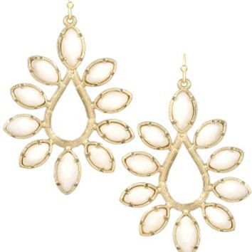 Nyla Earrings in White Pearl - Kendra Scott Jewelry