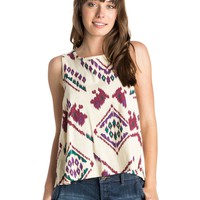 Boho Ikat Open Back Tank 888701621690 | Roxy