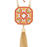 ModCloth Boho Next Stop, Paradise Earrings and Necklace Set
