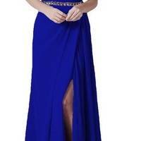 Lttdress Women's Spaghetti Straps Prom Gowns Long Bridesmaid Dress