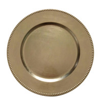C216-123029-12 The Urban Port  Gold Charger Plates Set Of 12
