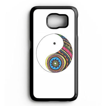 yin and yang art Samsung Galaxy S4 Galaxy S5 Galaxy S6 Edge Case | Note 3 Note 4 Note 5 Case