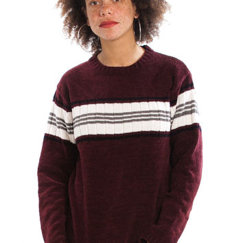 Not-Quite-Vintage Y2K Beet It Stripe Pullover - One Size Fits Many