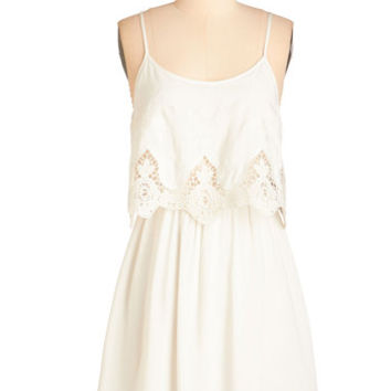 ModCloth Festival Mid-length Spaghetti Straps A-line Swoon All Afternoon Dress