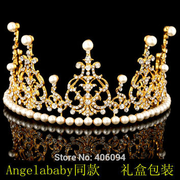 2016 Hair Jewelry Plant Tiaras Money Crown Bridal Headdress New Goods Jewels 24k Women Wedding Accessories Zinc Alloy Classic