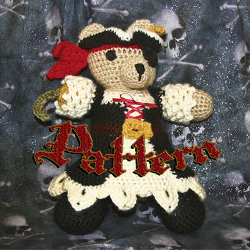 Pirate Wench Bear Amigurumi Pattern