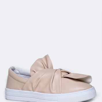 Tied Bow Flat Sneakers