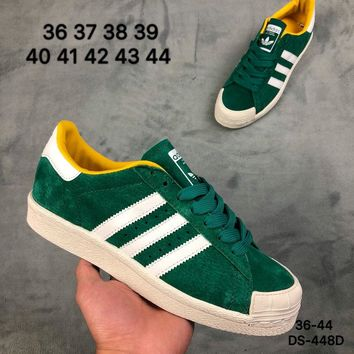Adidas HALF SHELL 80s Men and Women Green Fashion Outdoor Skate Shoes