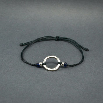 Circle Bracelet, Friendship bracelets, Unisex Bracelet, Adjustable, Cord Bracelet, Circle Jewelry