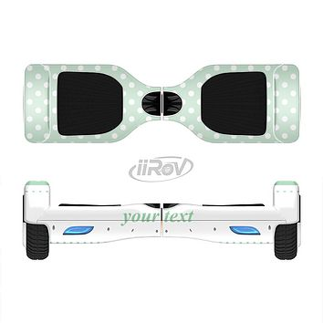 The Vintage Light Green Polka Dot With White Strip Full-Body Skin Set for the Smart Drifting SuperCharged iiRov HoverBoard