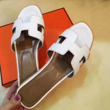 Hermes Casual Fashion Women Sandal Slipper Shoes H-ALXY