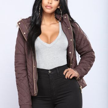 Emma Quilted Jacket - Brown