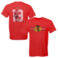 Jonathan Toews Chicago Blackhawks Levelwear Heatheres Classic Name & Number T-Shirt – Red