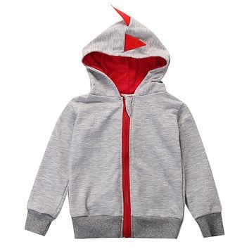 Fashion Special Cute Dinosaur Hooded Baby Boys Clothes Long sleeve Cotton Hoodie Tops Coat 0~3Y