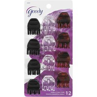 Goody Hair Hints Small Black Clear Jaw Clips Dark Brown with Spots, 12 count - Walmart.com