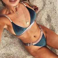 New Arrival Hot Sexy Patchwork Fashion Bikini