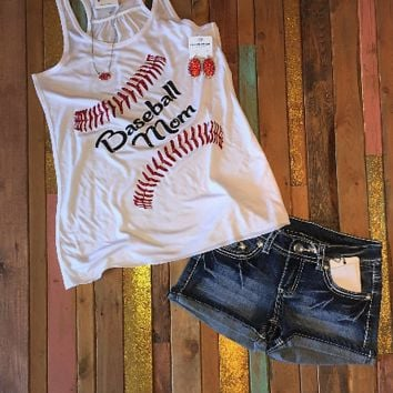 Baseball Mom Racerback