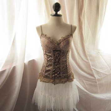 Temptress Burlesque Cocoa Velvet Chocolate Brown Old World Charm Lace Marie Antoinette Inspired Boudoir Whimsical Sexy Dress y Corset