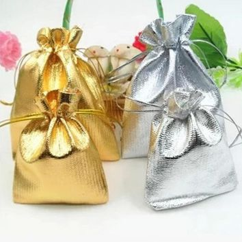 50Pcs/lot Organza Bags 9x7cm Wedding Favor Pouches Party Candy Bag Jewelry Packing Gift Bags 3 Colors Wedding Supplies