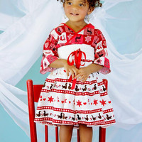 Christmas Dress for Girls - Girls Red Christmas Dress - Long Sleeve Dress - sizes 12 mo to 7 years - Baby Girl Christmas Dress