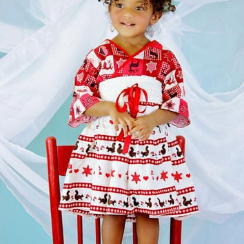 9c72724ba Christmas Dress for Girls - Girls Red Christmas Dress - Long .