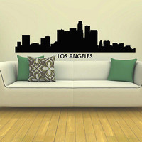 WALL DECAL VINYL STICKER LOS ANGELES SKYLINE CITY SILHOUETTE DECOR SB89