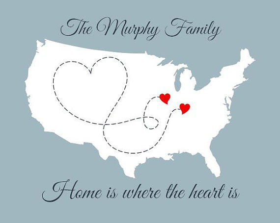 family map  home is where the heart is  from