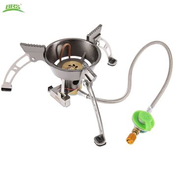 BRS - 11 Outdoor Gas Stove High Quality Split Windproof Cookware Copper Alloy Stainless Steel Stove Windproof With Carrying Bag