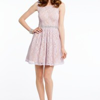 Two Tone Glitter and Lace Dress