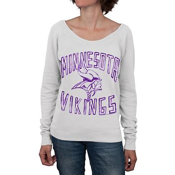 Minnesota Vikings - Logo Off-Shoulder Juniors Sweatshirt