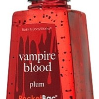 Bath & Body Works Plum Vampire Blood PocketBac Deep Cleansing Anti-Bacterial Hand Gel 1 oz (29 ml) - Glow in the Dark Label